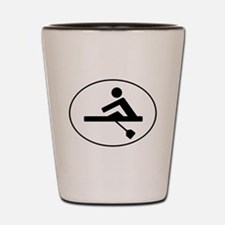 Rower Oval Shot Glass