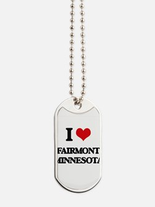 I love Fairmont Minnesota Dog Tags