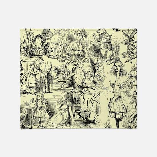 Alice's Wonderland Throw Blanket