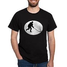 Hockey Player Oval T-Shirt