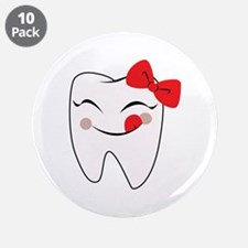 """Girly Tooth 3.5"""" Button (10 pack)"""