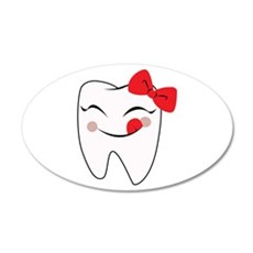 Girly Tooth Wall Decal