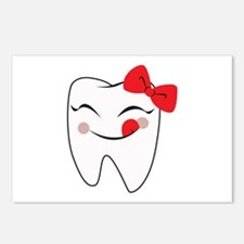 Girly Tooth Postcards (Package of 8)