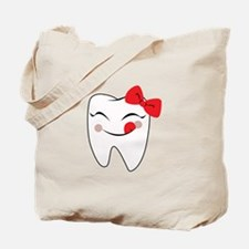 Girly Tooth Tote Bag