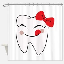 Girly Tooth Shower Curtain