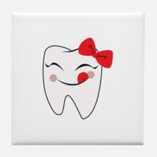 Girly Tooth Tile Coaster