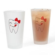 Girly Tooth Drinking Glass