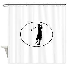 Golfer Oval Shower Curtain