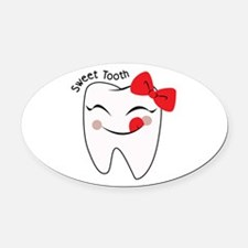 Sweet Tooth Oval Car Magnet