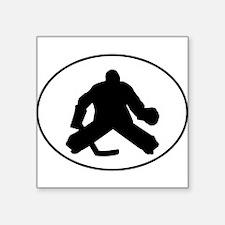 Hockey Goalie Oval Sticker