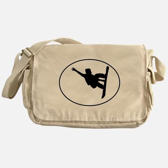 Snowboarder Oval Messenger Bag