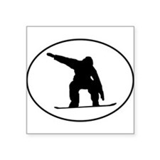 Snowboarder Oval Sticker
