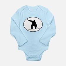 Snowboarder Oval Body Suit