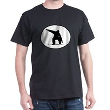 Snowboarder Oval T-Shirt