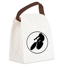 Cyclist Oval Canvas Lunch Bag