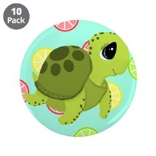 """Summertime Sea Turtle 3.5"""" Button (10 pack)"""