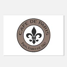 Modern trends Cafe De Paris Postcards (Package of
