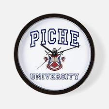 PICHE University Wall Clock
