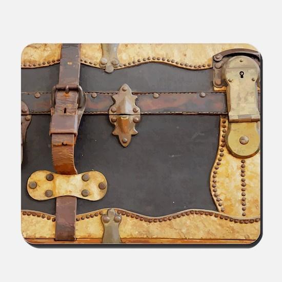 Steampunk Luggage Mousepad