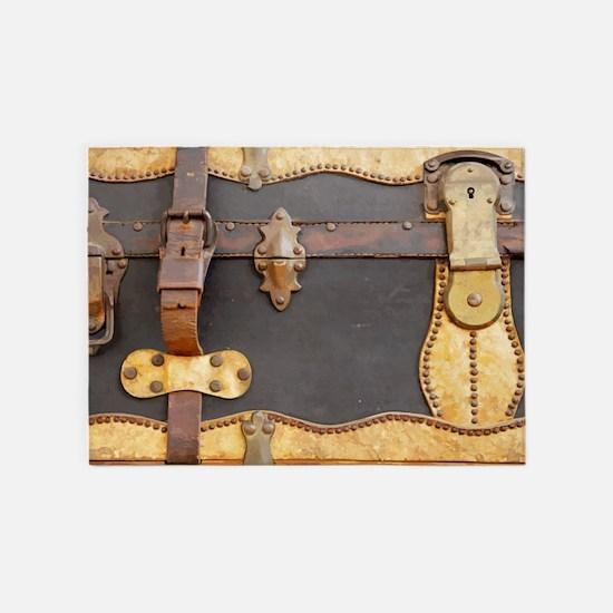 Steampunk Luggage 5'x7'Area Rug