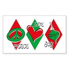 Peace Love Joy Rectangle Decal