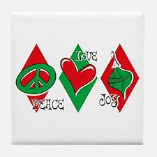 Peace Love Joy Tile Coaster