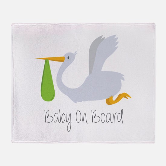 Baby On Board Throw Blanket