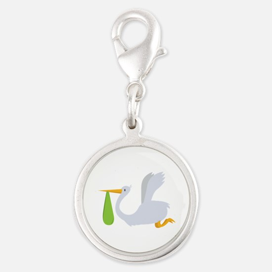 Flying Stork Charms