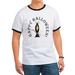 Halloween Black Crow Ringer T