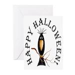 Black Crow Halloween Cards (Pk of 10)