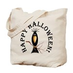 Halloween Black Crow Tote Bag