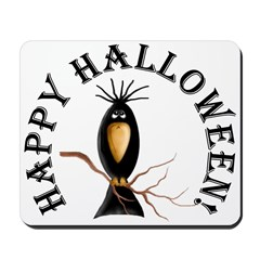 Halloween Black Crow Mousepad