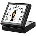 Halloween Black Crow Keepsake Box