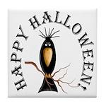 Halloween Black Crow Tile Coaster