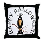 Halloween Black Crow Throw Pillow