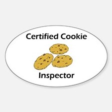 Certified Cookie Inspector Oval Decal
