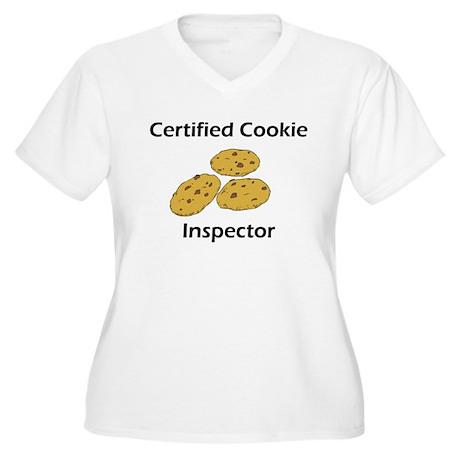 Certified Cookie Inspector Women's Plus Size V-Nec