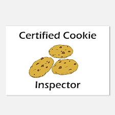 Certified Cookie Inspector Postcards (Package of 8