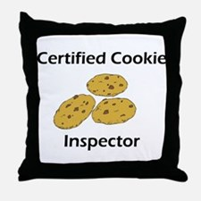 Certified Cookie Inspector Throw Pillow