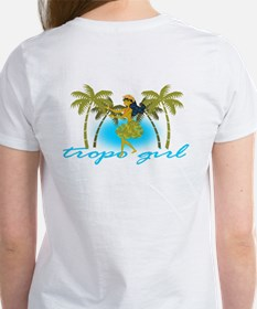 tropo girl tiki club Tee