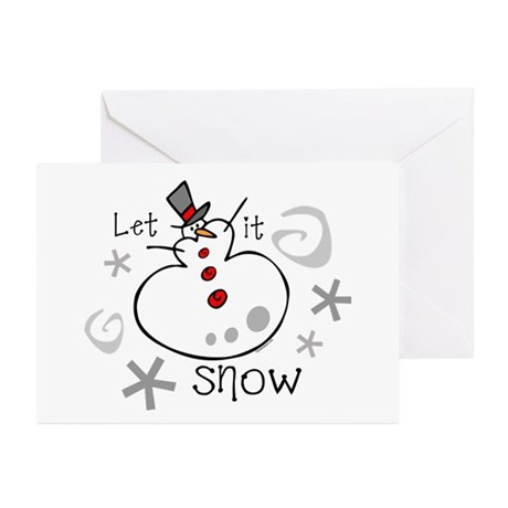 Let It Snow 2 Greeting Cards (Pk of 10)
