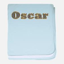Oscar Gold Diamond Bling baby blanket
