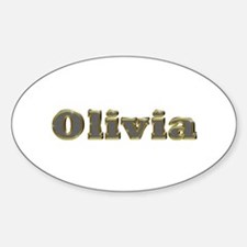 Olivia Gold Diamond Bling Oval Decal
