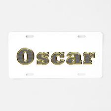 Oscar Gold Diamond Bling Aluminum License Plate