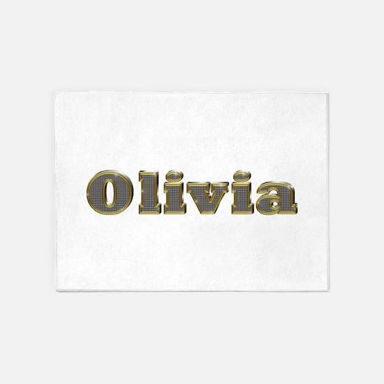 Olivia Gold Diamond Bling 5'x7' Area Rug