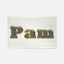 Pam Gold Diamond Bling Rectangle Magnet