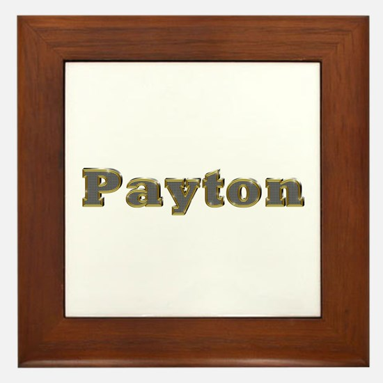 Payton Gold Diamond Bling Framed Tile