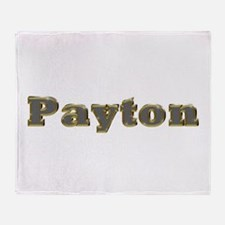 Payton Gold Diamond Bling Throw Blanket