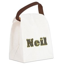 Neil Gold Diamond Bling Canvas Lunch Bag