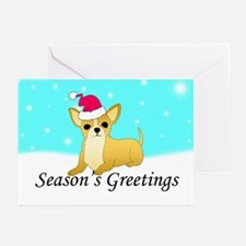 Chihuahua Santa Greeting Cards (Pk of 20)